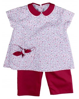 Tunic and Pants Charlotte - Raspberry