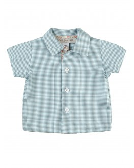 Alphonse short-sleeves shirt - Green Orange