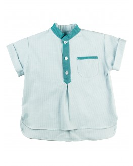 Bastien Short-Sleeves Shirt - Celadon