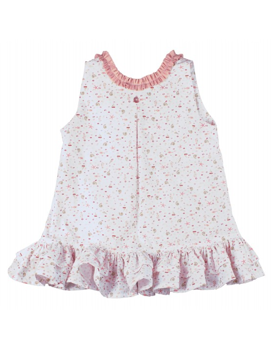 Robe Jeanne Coquillages rose